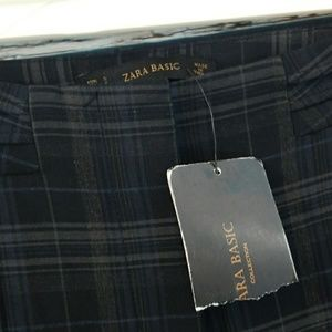 NWT Zara 🎉 plaid pleated waist pants slacks sz Sm